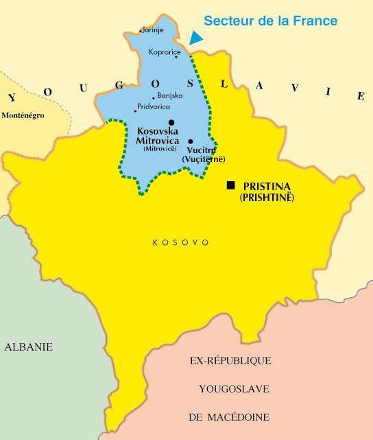 Map Of Kosovo Region. Maps of the Region